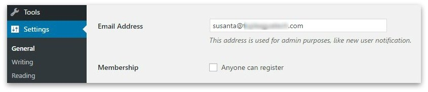 Your admin email address is found under Settings > General.