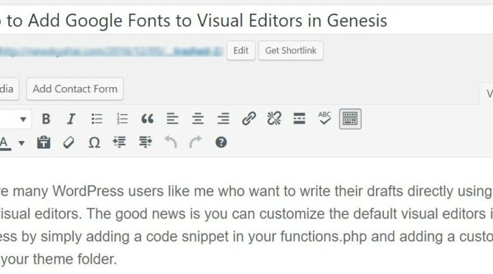 How to Add Google Fonts to Visual Editor in Genesis