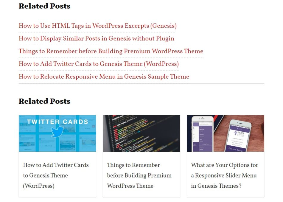 Show Related Posts in Grid Layout in Genesis without Plugins