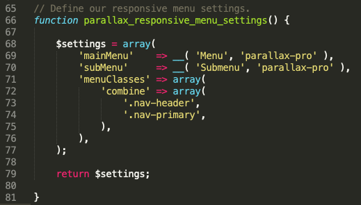 "If you want to remove the ""MENU"" label from the responsive hamburger menu in Genesis Parallax Pro theme"